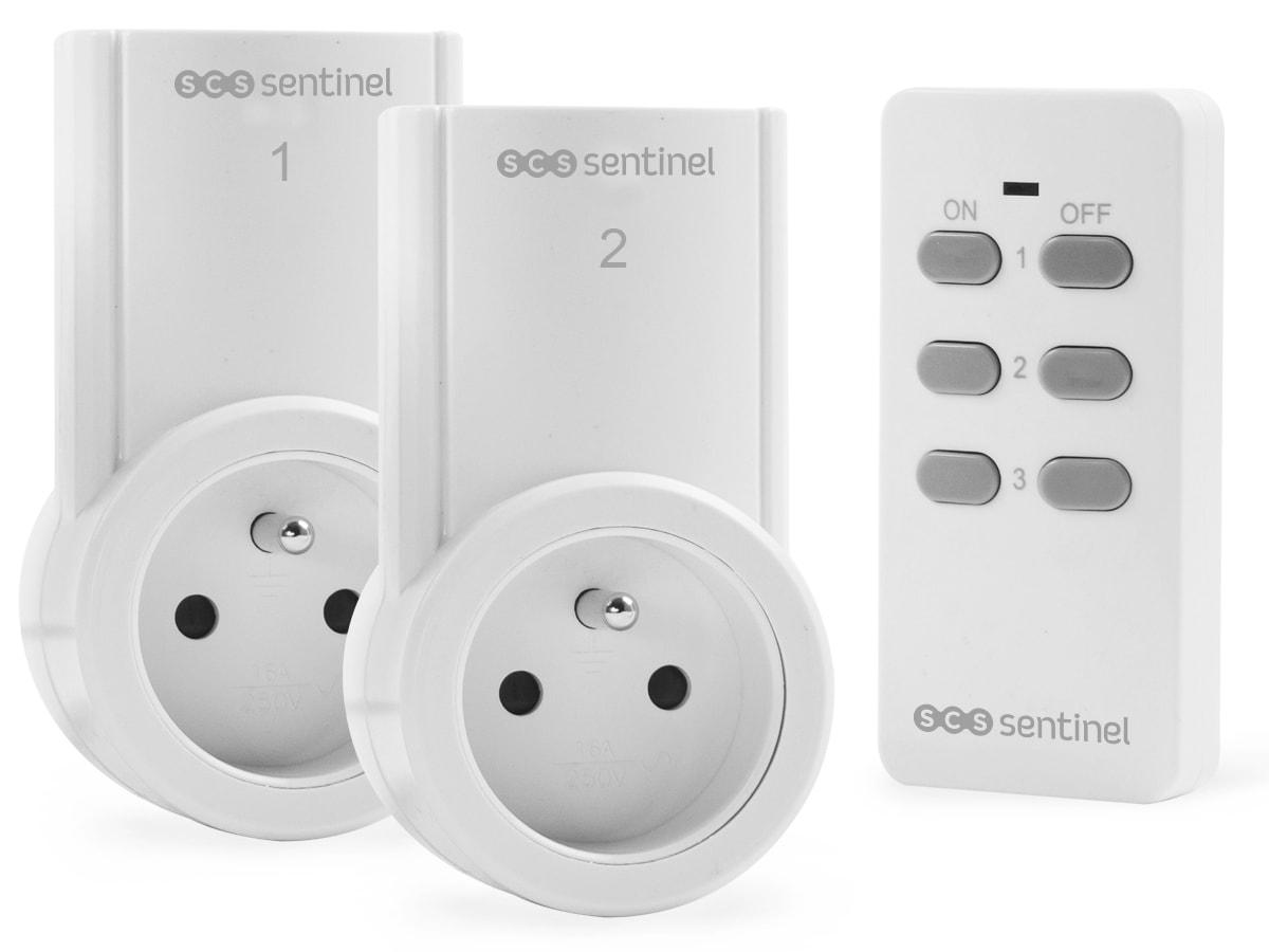 kit 2 prises t l command es control power scs la boutique. Black Bedroom Furniture Sets. Home Design Ideas