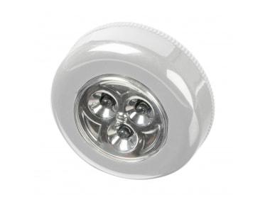 lampe adh sive 3 leds 3 leds blanche scs la boutique. Black Bedroom Furniture Sets. Home Design Ideas