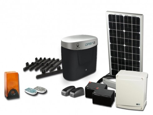 motorisation solaire coulissant open 3d eco energy 24v scs la boutique. Black Bedroom Furniture Sets. Home Design Ideas