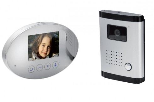 Interphone vidéo miroir 4 fils - fonction miroir - SCS La Boutique
