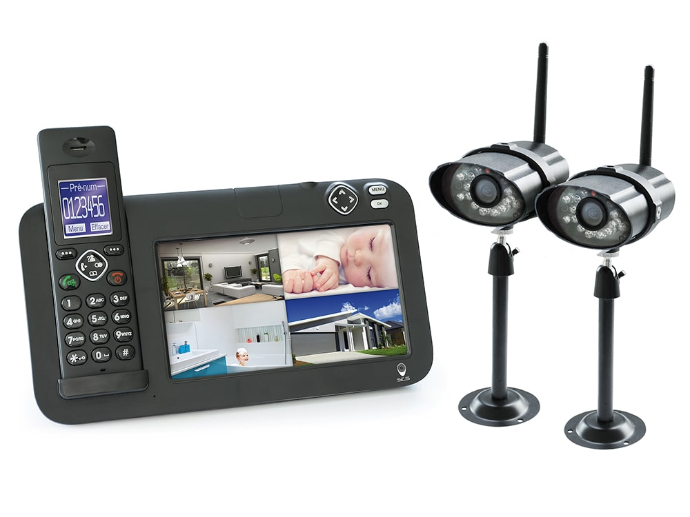 kit vid o surveillance dect 2 cam ras scs la boutique. Black Bedroom Furniture Sets. Home Design Ideas