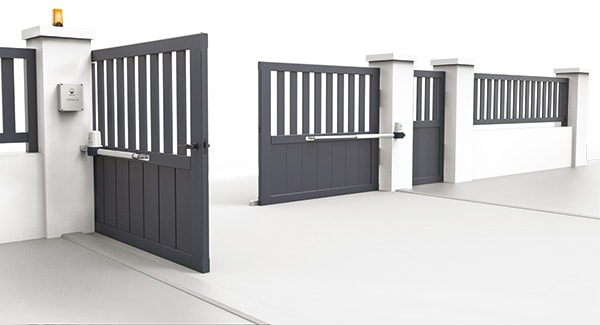 motorisation portail battant open 1 safety 24v scs la boutique. Black Bedroom Furniture Sets. Home Design Ideas