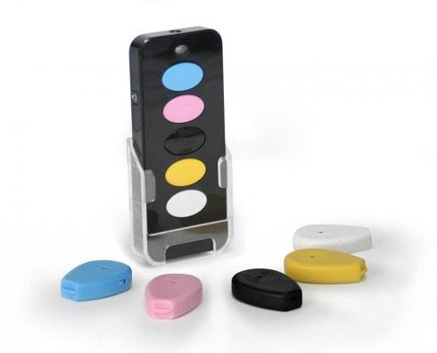 porte cl siffleur 5 badges smart key finder scs la boutique. Black Bedroom Furniture Sets. Home Design Ideas