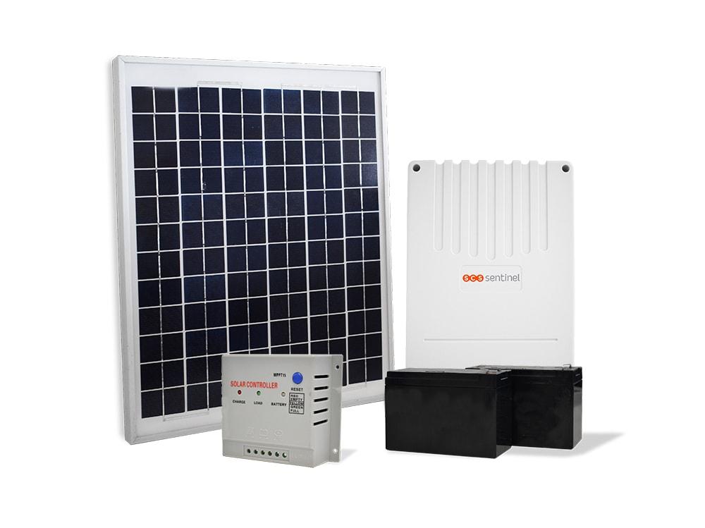 kit solaire motorisation de portail solargate 20w scs la boutique. Black Bedroom Furniture Sets. Home Design Ideas