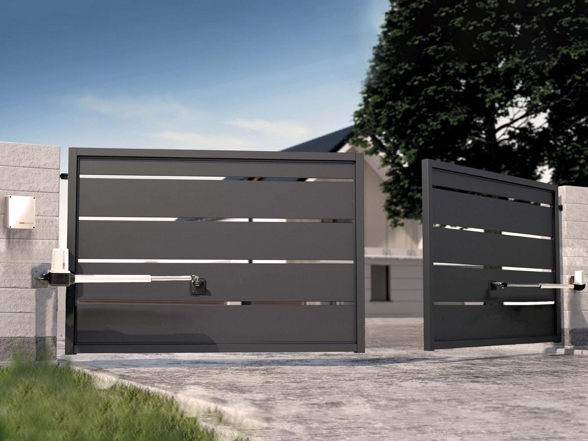 motorisation portail 2 battants opengate 1 scs la boutique. Black Bedroom Furniture Sets. Home Design Ideas