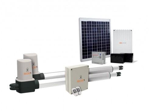 Motorisation portail battant solaire scs 1 eco energy scs la boutique - Motorisation portail solaire ...