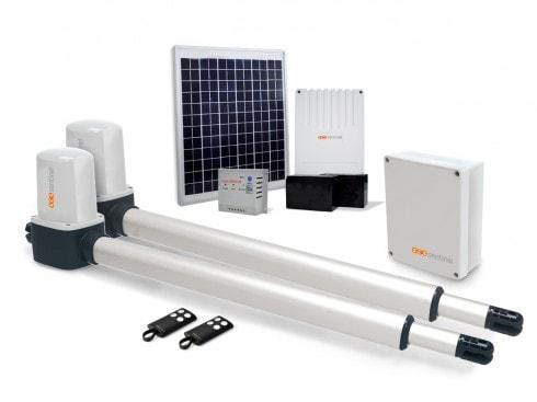 motorisation portail solaire 2 battants opengate 1 eco. Black Bedroom Furniture Sets. Home Design Ideas
