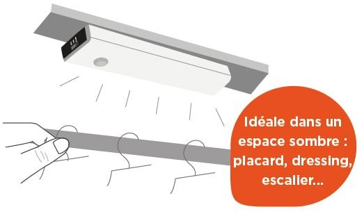 lampe led avec d tecteur de mouvement motionlight blanc. Black Bedroom Furniture Sets. Home Design Ideas