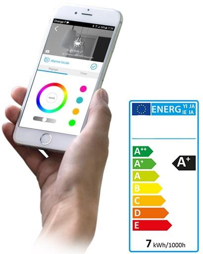 ampoule led connect e wifilight bulb scs sentinel. Black Bedroom Furniture Sets. Home Design Ideas